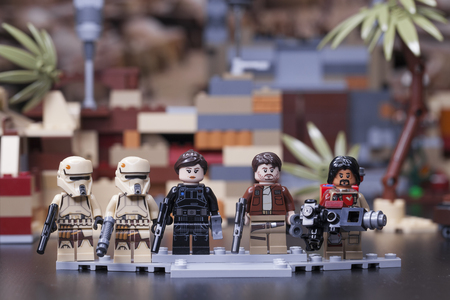 RUSSIA, April 12, 2018. Constructor Lego Star Wars. The main characters of the film - Rogue One Editorial