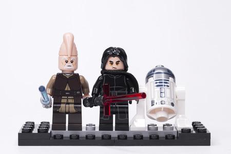 RUSSIAN, May 16, 2018. LEGO STAR WARS. Kylo Ren and other mini-figures of Lego Star Wars saga