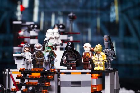 RUSSIAN, April 03, 2018. Constructor Lego Star Wars. Darth Vader and Bounty Hunters  Editorial