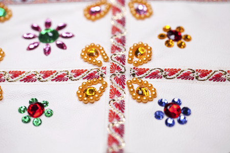 Homemade - embroidery on white fabric