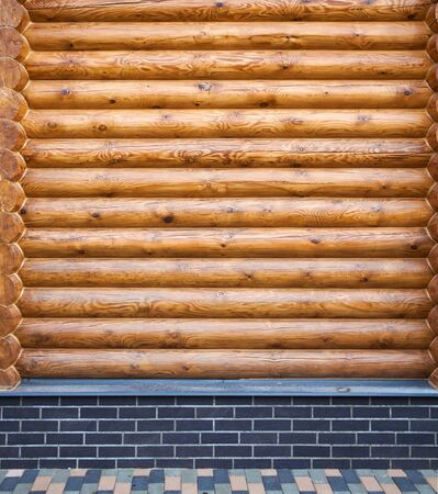 wooden beam wall - copy space