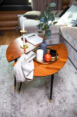 Interior coffee table in the living room