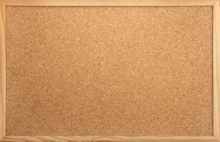 empty notice-board made of cork as backdrop Stock Photo