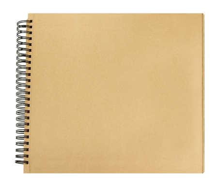 Libro de portada papel reciclado páginas encuadernación en espiral Foto de archivo