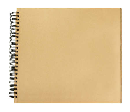 Vooromslag boek gerecycled papier pagina's spiraalbinding Stockfoto