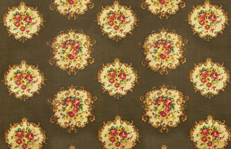 old fashioned cloth with flowery Victorian patterned decoration