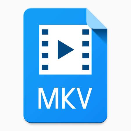 MKV file type user interface icon for cloud data storage service / website / application design. Vector illustration