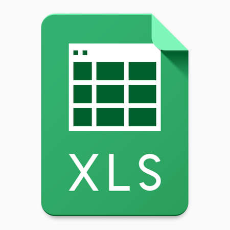 XLS file type user interface icon for cloud data storage service / website / application design. Vector illustration