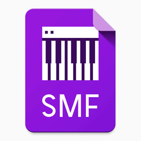 SMF file type user interface icon for cloud data storage service / website / application design. Vector illustration Vettoriali