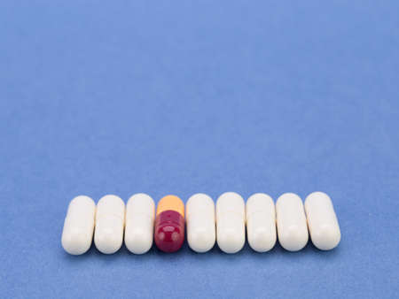 Vitamins and trace elements in tablets and capsules to improve health and quality of life