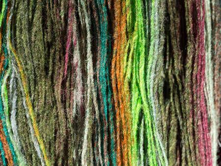 Yarn from natural natural material in various colors