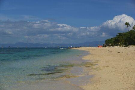 bounty: Paradise Beach Bounty Island Fiji Stock Photo