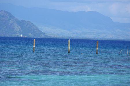 bounty: Bounty isla Fiji Pier Foto de archivo
