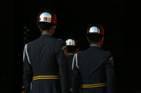 spiffy: Tourist attraction of honour guard in taipei taiwan