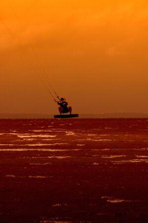apparent: Kite boarding silhouette