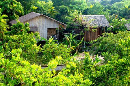 capanne tradizionali giungla bamdoo Siem Reap in Cambogia