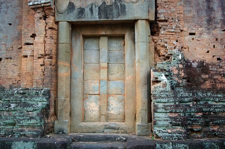doorway into phnom bakheng ankor siem reap cambodia Stock Photo - 4793789
