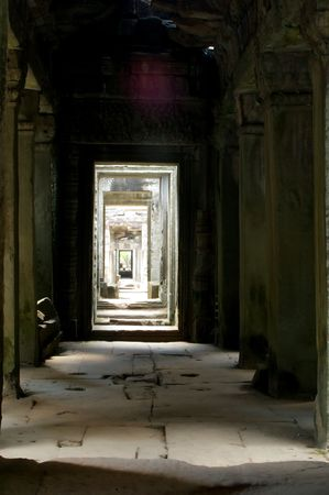 door after the next and so on in the chambers of angkor wat photo