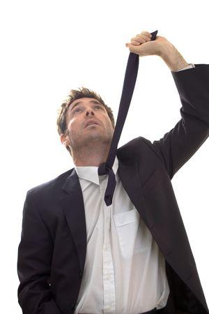 epuise: d'affaires le suicide par pendaison � la recherche de cravate chevron