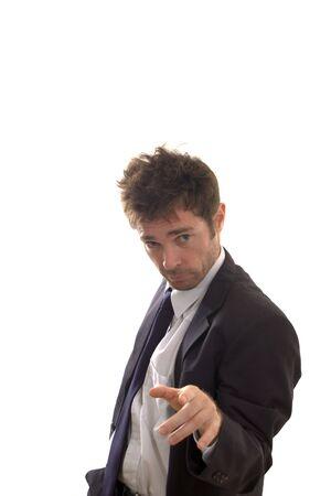 phlegmatic: business man striking a playing it cool pose