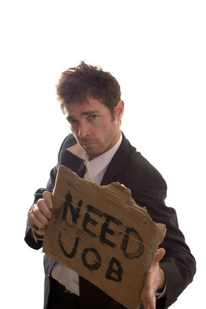 nonchalant: nonchalant business man unconcerned about job propects