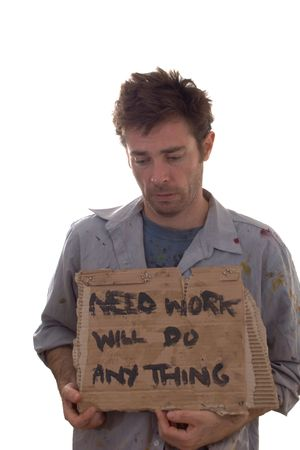 Untidy and dirty worker in desperate need of employment Stock Photo - 5140565