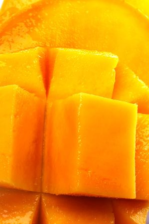 close up of mango texture background color photo