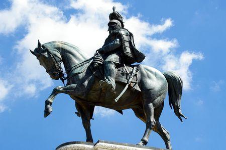 emmanuel: Vittorio Emanuele soldier war memorial in rome italy  Stock Photo