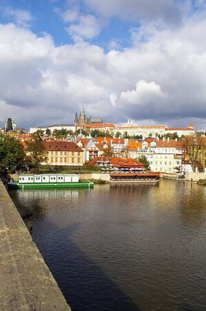 looking from the charles bridge onto the castle disctrict photo