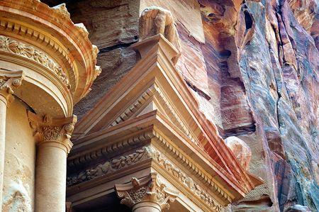 petra  jordan: The famous carved mountain treasury of petra Jordan