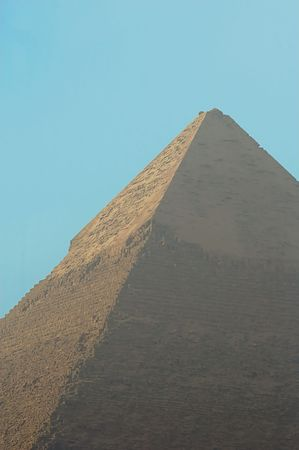 chephren: The great pyramid of Chephren or Khafra eygpt cairo under smog