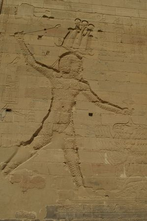 hieroglyphics on famous eygpt temple of Philae aswan Stock Photo - 5892895