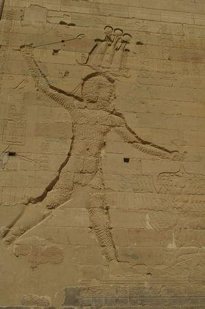 hieroglyphics on famous eygpt temple of Philae aswan Stock Photo - 5892895