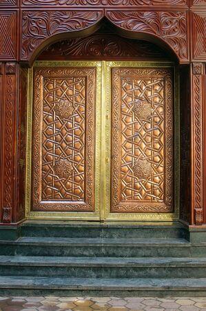 Ornate old Arabic architecture background of Islamic cairo  khan al khalili area  Stock Photo - 6026553