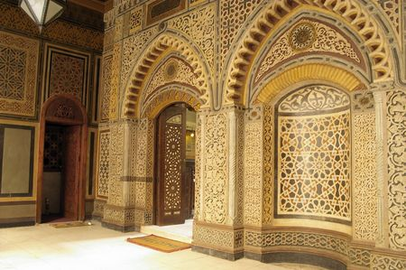 Christian Cairo Egypt tile mosiac door detail photo