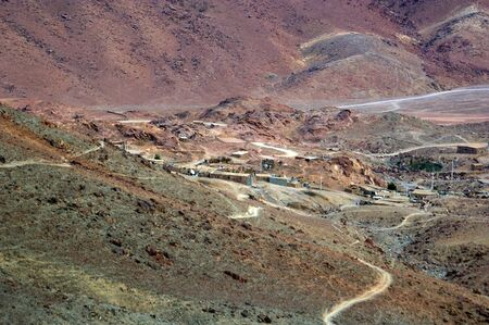 commandment: Rural settlement in Mount Sinai the place of Moses and the ten commandments Egypt