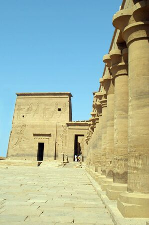 philae temple on the banks of the nile in aswan egypt photo