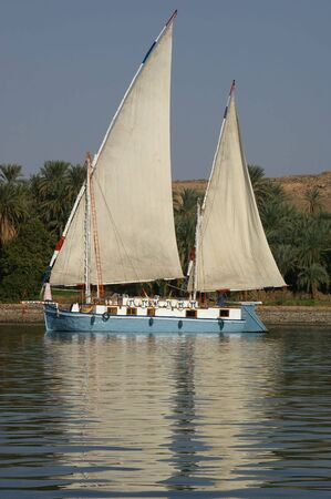 A Felucca on the nile in southern Egypt tourist town of aswan Stock Photo - 6113156