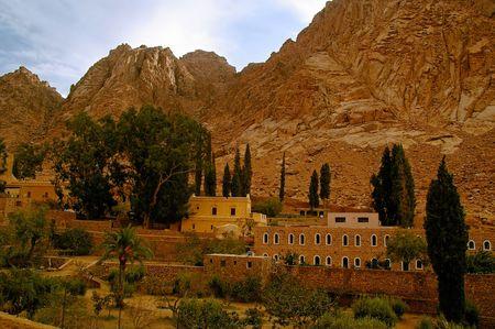 burning bush: saint catherine monastery place of the burning bush and ten commandments