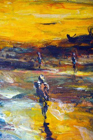 originale dipinto a olio su tela giclee, sfondo o concetto copyright del fotografo  Archivio Fotografico