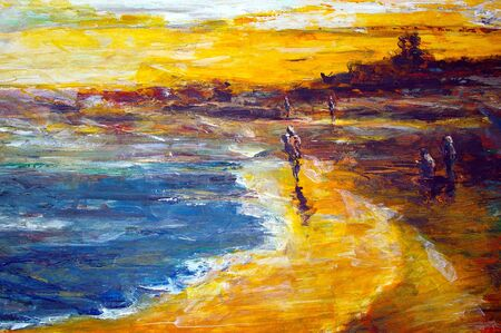 painting and decorating: original oil painting on canvas for giclee, background or concept copyright from from the photographer