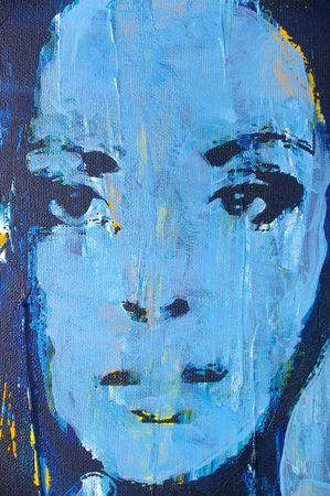 acrylic: Original oil painting artwork on textured canvas