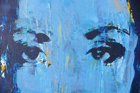 Grafica originale di pittura ad olio su tela con texture