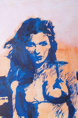 Original oil painting artwork on textured canvas Stock Photo - 6768788