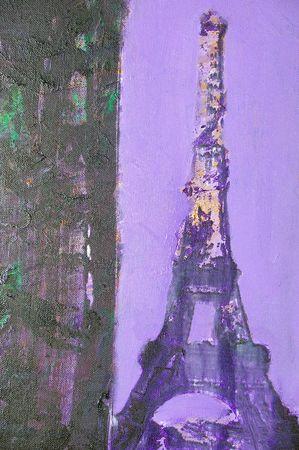 Disegno originale di pittura ad olio su tela con texture