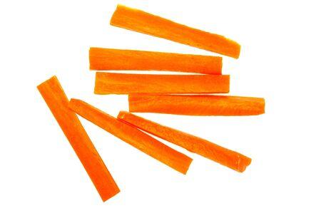 grapa: vegetal discontinuas crudo naranja zanahoria aislado en blanco Foto de archivo