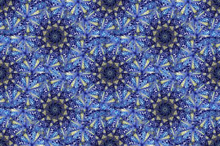 Arabic mosque mosaic blue tile pattern in close up photo