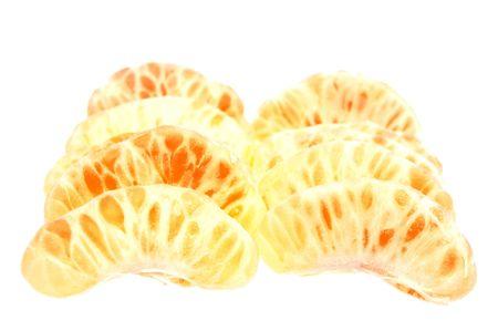 orange mandarin or tangerine isolated over white photo