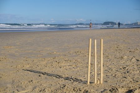 bails: he great Australian tradition of beach cricket on the iconic goldcoast