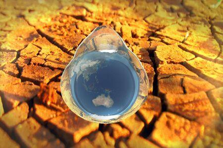 waterbesparing: 3D render water behoud milieu conceptuele afbeelding  Stockfoto